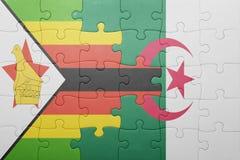 intryguje z flaga państowowa Algeria i Zimbabwe Obraz Royalty Free