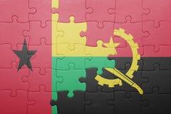 intryguje z flaga państowowa Angola Bissau i gwinea Zdjęcia Royalty Free