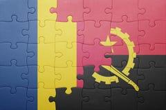 intryguje z flaga państowowa Angola i chad Obraz Stock