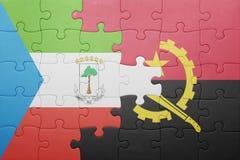 intryguje z flaga państowowa Angola i gwinea równikowa Zdjęcie Royalty Free