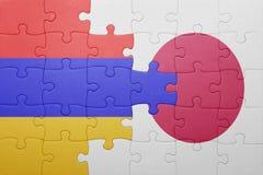 Intryguje z flaga państowowa Armenia i Japan Obrazy Stock