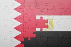intryguje z flaga państowowa Bahrain i Egypt Obrazy Royalty Free