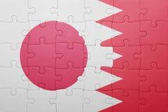 Intryguje z flaga państowowa Bahrain i Japan Obraz Stock