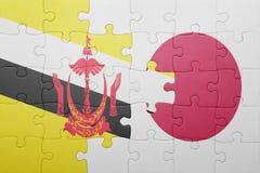 Intryguje z flaga państowowa Brunei i Japan Obraz Royalty Free