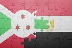 intryguje z flaga państowowa Burundi i Egypt Obrazy Stock