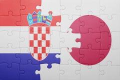 Intryguje z flaga państowowa Croatia i Japan Obraz Stock