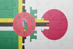Intryguje z flaga państowowa Dominica i Japan Obraz Royalty Free