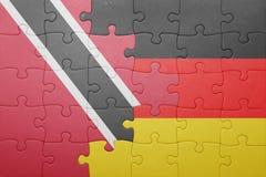 Intryguje z flaga państowowa Germany, Trinidad i Tobago Zdjęcie Royalty Free