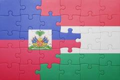 intryguje z flaga państowowa Haiti i Hungary obraz royalty free