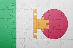 Intryguje z flaga państowowa Ireland i Japan Obrazy Royalty Free