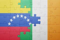 Intryguje z flaga państowowa Ireland i Venezuela Fotografia Stock