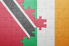 Intryguje z flaga państowowa Ireland, Trinidad i Tobago Zdjęcie Royalty Free