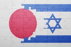 Intryguje z flaga państowowa Israel i Japan Obraz Royalty Free