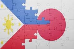 Intryguje z flaga państowowa Japan i Philippines Obrazy Stock