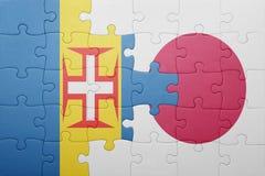 Intryguje z flaga państowowa Madeira i Japan Obrazy Stock