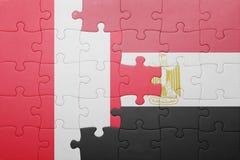 intryguje z flaga państowowa Peru i Egypt Fotografia Stock