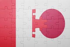 Intryguje z flaga państowowa Peru i Japan Obraz Stock