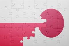 Intryguje z flaga państowowa Poland i Japan Obrazy Royalty Free