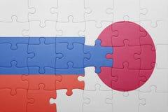 Intryguje z flaga państowowa Russia i Japan Obraz Stock