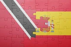 Intryguje z flaga państowowa Spain, Trinidad i Tobago Zdjęcia Stock