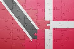 intryguje z flaga państowowa Trinidad, Tobago i Denmark Obrazy Royalty Free