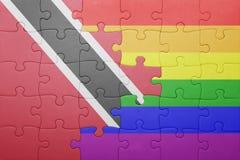 Intryguje z flaga państowowa Trinidad, Tobago i homoseksualisty flaga Zdjęcie Royalty Free
