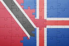 intryguje z flaga państowowa Trinidad, Tobago i Iceland Obraz Stock