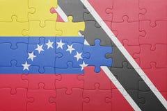 Intryguje z flaga państowowa Trinidad, Tobago i Venezuela Obrazy Royalty Free