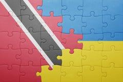 intryguje z flaga państowowa Ukraine, Trinidad i Tobago Zdjęcie Royalty Free