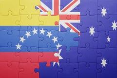 Intryguje z flaga państowowa Venezuela i Australia Obrazy Stock