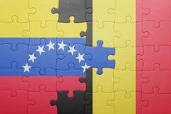 intryguje z flaga państowowa Venezuela i Belgium Fotografia Royalty Free