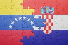intryguje z flaga państowowa Venezuela i Croatia Obraz Royalty Free