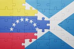 intryguje z flaga państowowa Venezuela i Scotland Fotografia Royalty Free