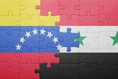 intryguje z flaga państowowa Venezuela i Syria Obraz Royalty Free