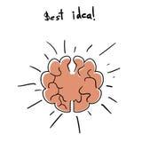 Intuïtie abstract concept stock illustratie