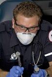 Intubação do paramédico foto de stock royalty free
