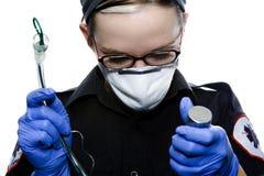 Intubación del paramédico Fotografía de archivo libre de regalías