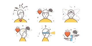 Intuition för man` s royaltyfri illustrationer