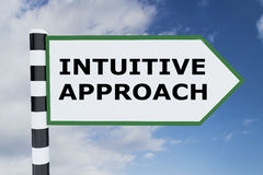 Intuitive Approach concept. 3D illustration of INTUITIVE APPROACH script on road sign Stock Photography