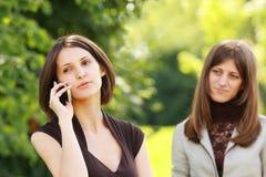 intymna telefon rozmowa Obraz Royalty Free