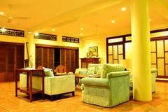 Intymnej siedziby VIP kurortu żywy pokój w Negros orientale, Filipiny obrazy stock