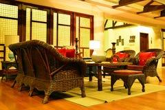 Intymnej siedziby VIP kurortu żywy pokój w Negros orientale, Filipiny fotografia stock