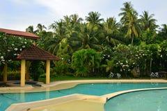 Intymnej siedziby VIP kurortu basen w Negros orientale, Filipiny fotografia stock