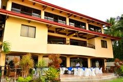 Intymnej siedziby VIP kurortu fasada w Negros orientale, Filipiny fotografia stock