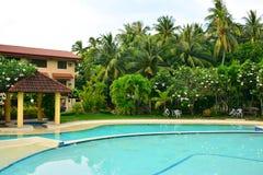Intymnej siedziby VIP kurortu pływacki basen w Negros orientale, Filipiny obraz royalty free