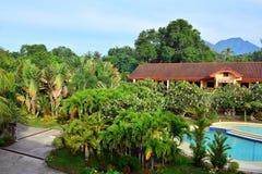 Intymnej siedziby VIP kurortu przegląd w Negros orientale, Filipiny obraz royalty free