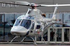 Intymny Agusta Westland A119 RA-01909 przy krokusa lotniskiem Obrazy Royalty Free