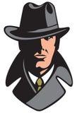 Intymny detektyw ilustracja wektor