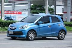Intymny eco samochód, Honda Brio Zdjęcia Royalty Free