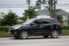 Intymny Hyundai Tucson Seksowny SUV samochód od Korea Zdjęcie Stock